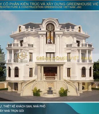 thiết kế biệt thự cổ điển 3 mặt tiền tại Bắc Giang