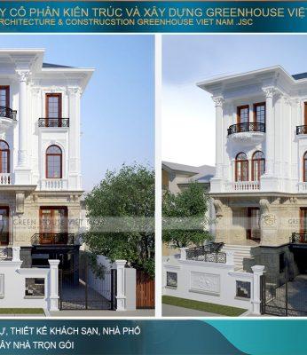 biệt thự phố tân cổ điển 4 tầng tại Hà Nội