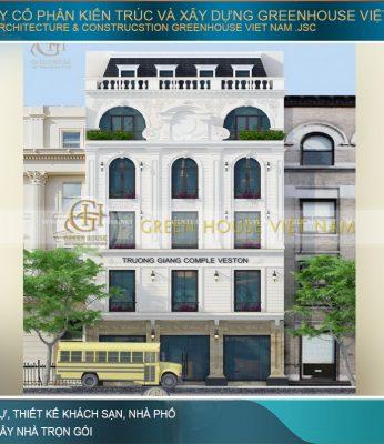 thiết kế biệt thự phố tân cổ điển kết hợp kinh doanh