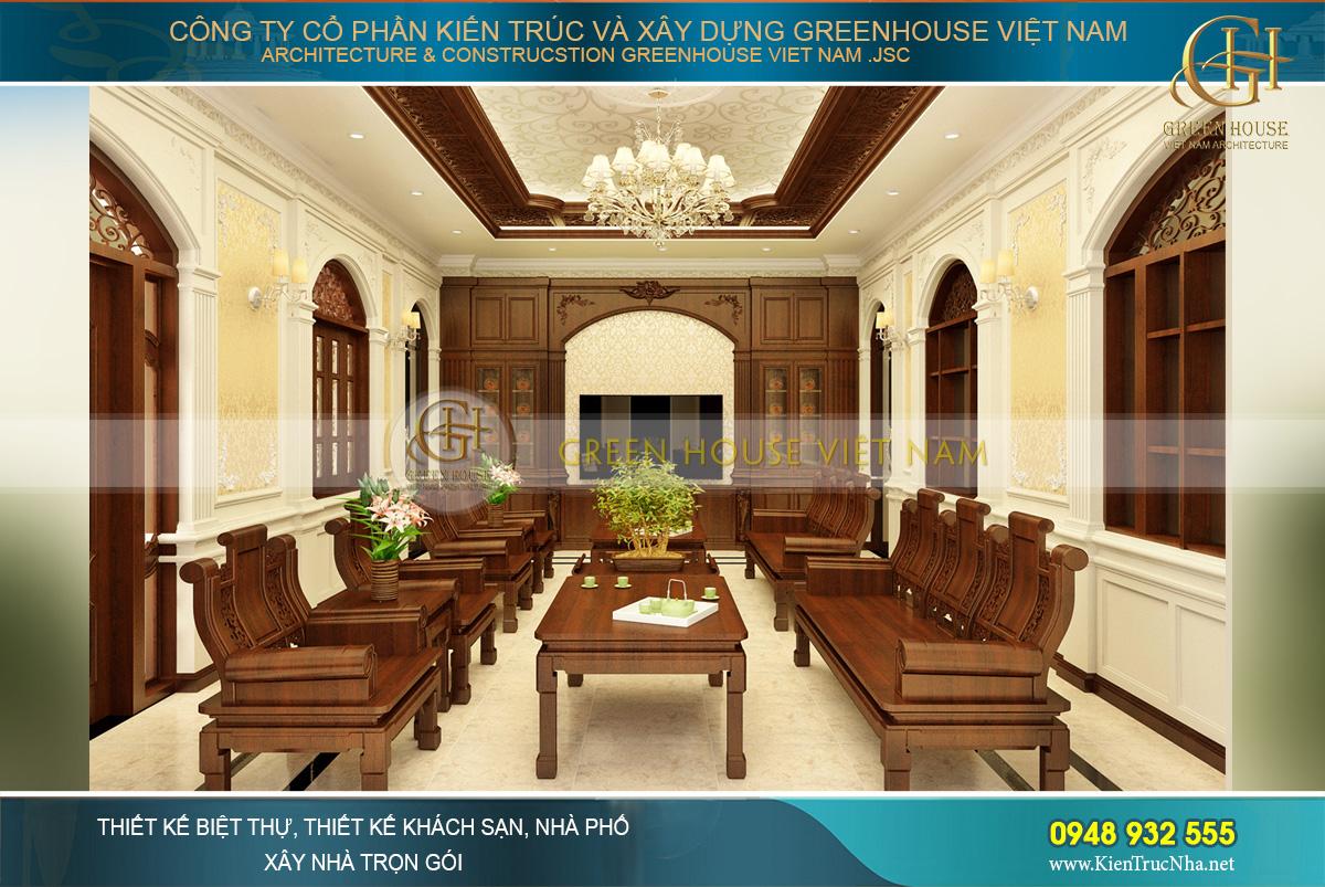 thiết kế biệt thự tân cổ điển 3 tầng tại Bắc Giang