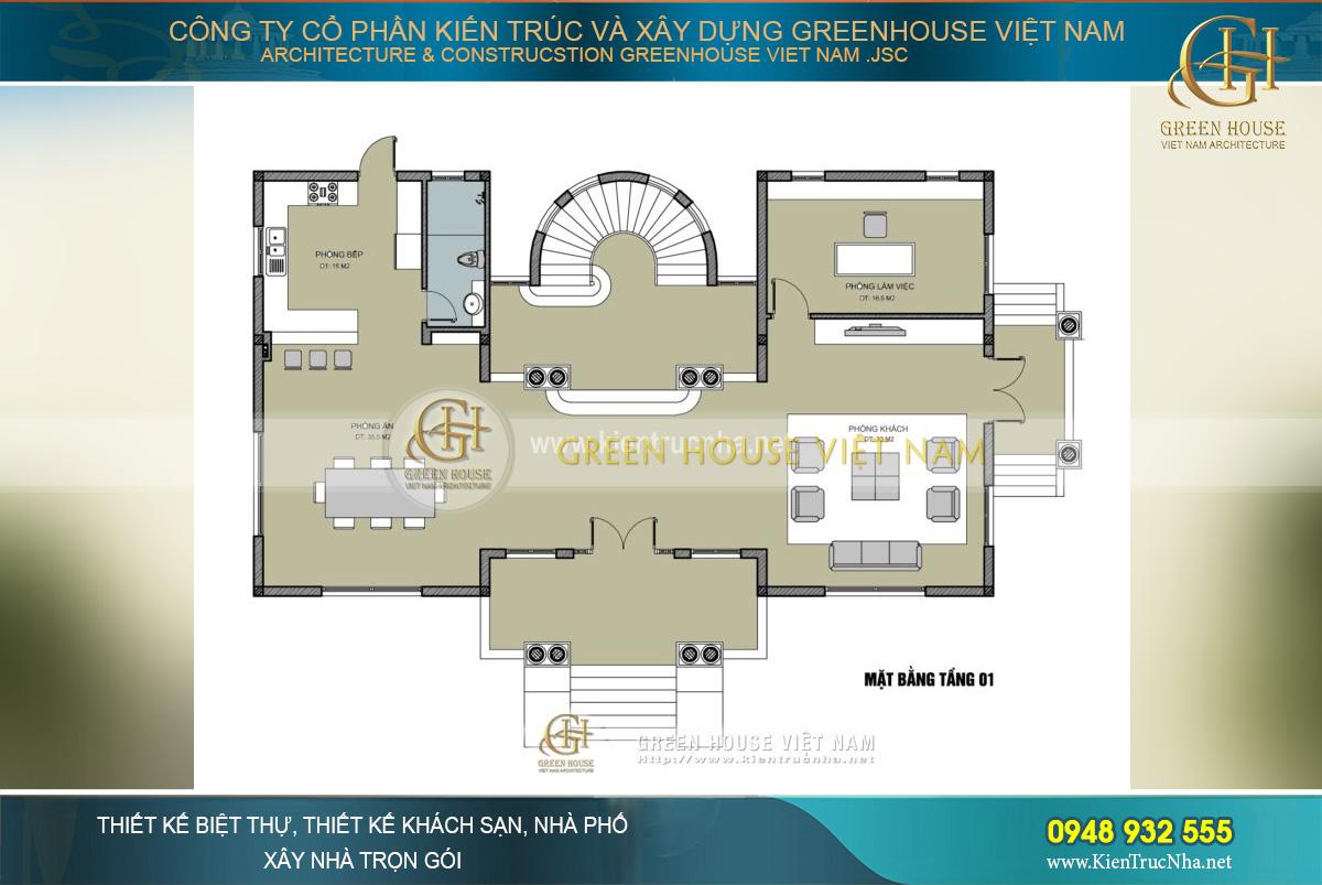 thiết kế biệt thự tân cổ điển tại hà nội