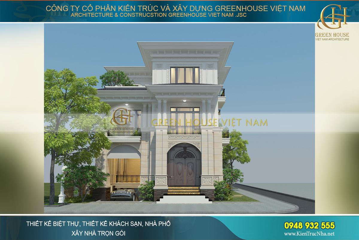 thiết kế biệt thự tân cổ điển 3 tầng tại sài gòn