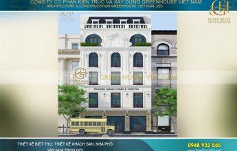 thiết kế biệt thự tân cổ điển kết hợp kinh doanh