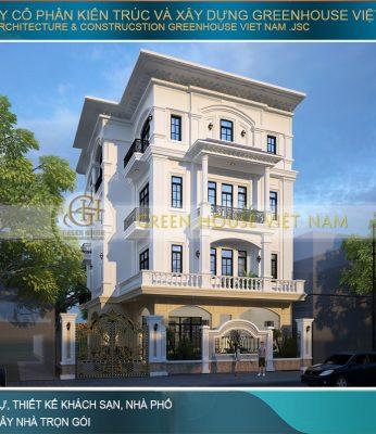 thiết kế biệt thự tân cổ điển 4 tầng tại Bắc Giang