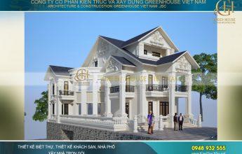 thiết kế biệt thự tân cổ điển 3 tầng tại Thái Nguyên