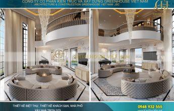 thiết kế nội thất biệt thự tân cổ điển tại Vinhomes Hà Nội