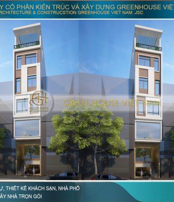thiết kế nhà phố hiện đại 6 tầng kết hợp kinh doanh tại hà nội