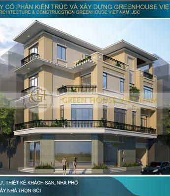 thiết kế nhà phố hiện đại 4 tầng tại Buôn Mê Thuột