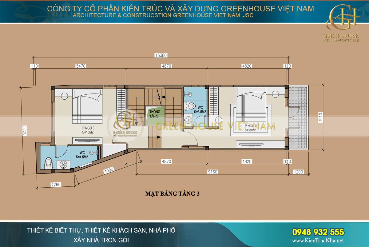 Thiết kế nhà phố tân cổ điển 4 tầng tại Ninh Bình