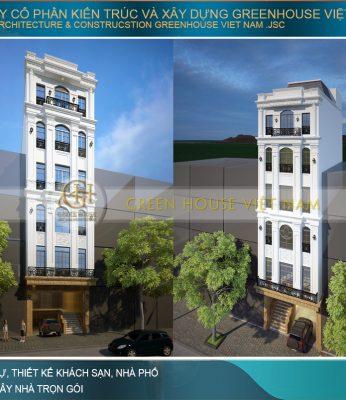 thiết kế nhà phố tân cổ điển 6 tầng tại Hà Nam