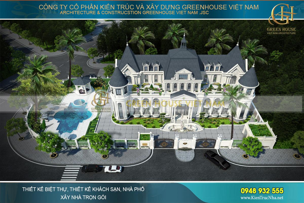 thiết kế dinh thự cổ điển đẹp tại phan thiết