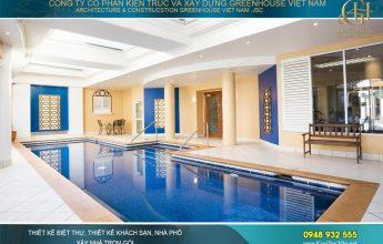 thiết kế biệt thự có bể bơi hợp phong thủy