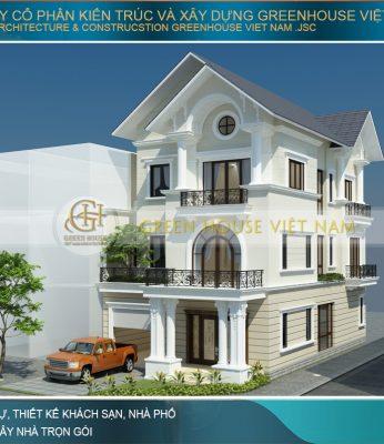 thiết kế biệt thự mái thái đẹp duyên dáng