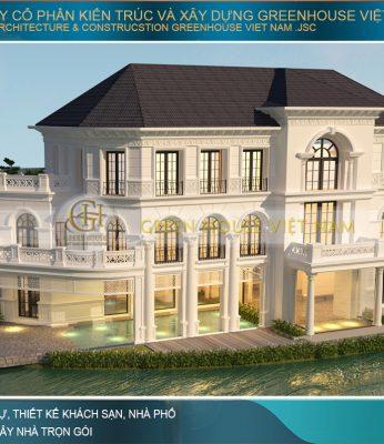thiết kế biệt thự tân cổ điển tại VInhomes Hà Nội