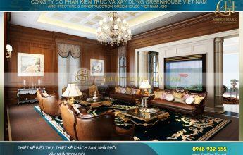 thiết kế nội thất biệt thự tân cổ điển 3 tầng tại Phan Thiết