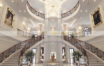 thiết kế nội thất dinh thự cổ điển 4 tầng tại Phan Thiết