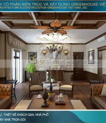 thiết kế phòng khách tân cổ điển đẹp