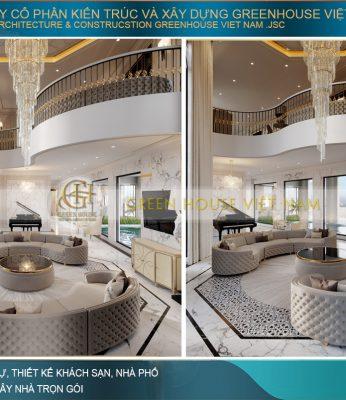 thiết kế nội thất biệt thự tại Vinhomes Hà Nội