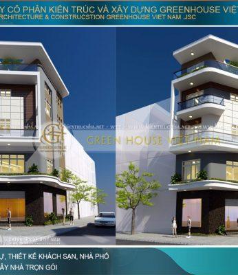 thiết kế nhà phố hiện đại kết hợp kinh doanh tại hà nội