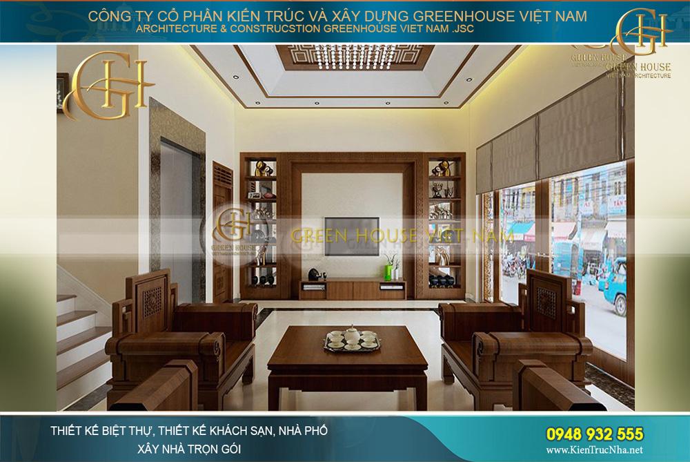 thiết kế nội thất biệt thự Á đông 4 tầng tại bắc giang