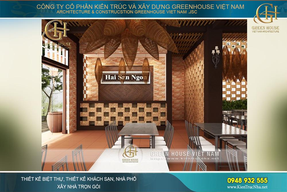 thiết kế nội thất nhà hàng hải sản tại bắc giang