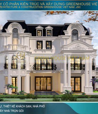 thiết kế biệt thự mái mansard