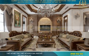 thiết kế nội thất biệt thự tân cổ điển 3 tầng tại Móng Cái