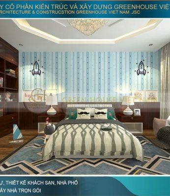 thiết kế phòng ngủ con trai đẹp