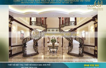 thiết kế nội thất biệt thự tân cổ điển 3 tầng bắc giang