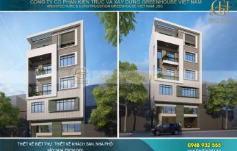thiết kế nhà phố hiện đại 5 tầng hà nội