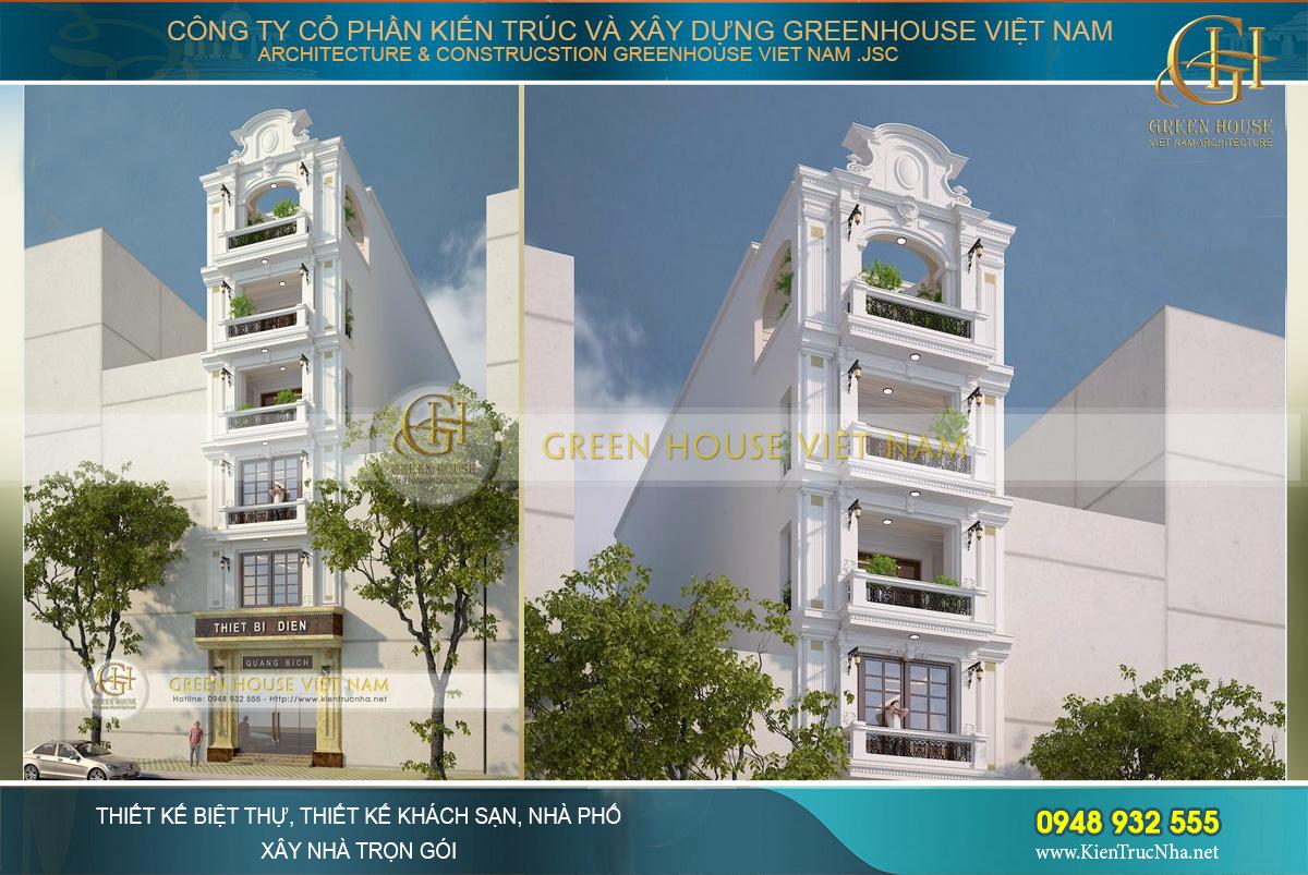thiết kế nhà phố kết hợp kinh doanh 7 tầng hà nội
