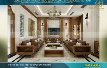 thiết kế nội thất biệt thự tân cổ điển Á Đông
