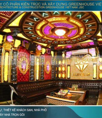 thiết kế nội thất quán karaoke Thái Bình