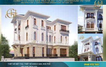 thiết kế biệt thự tân cổ điển 4 tầng tại Bắc Ninh