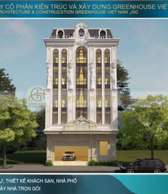 thiết kế khách sạn tân cổ điển 5 tầng lai châu