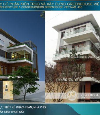 thi công trọn gói biệt thự hiện đại 4 tầng