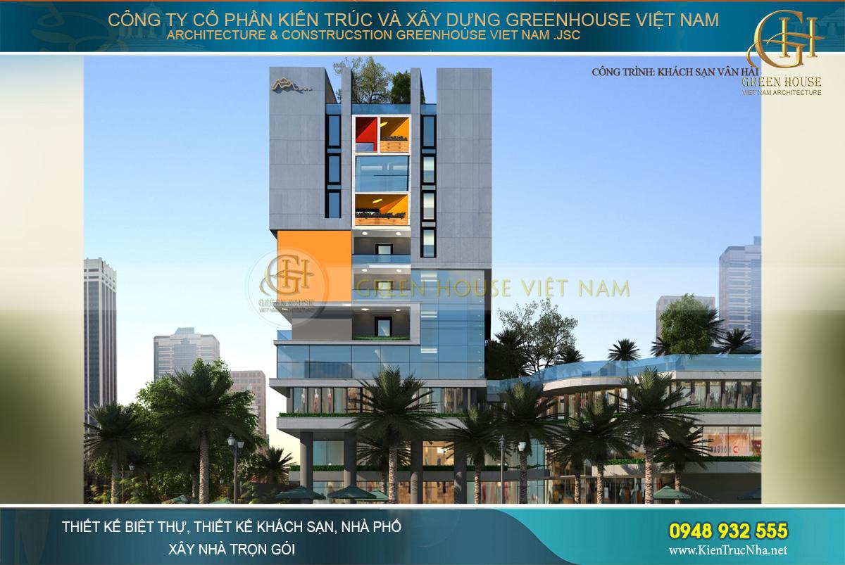 thiết kế khách sạn 10 tầng quảng ninh