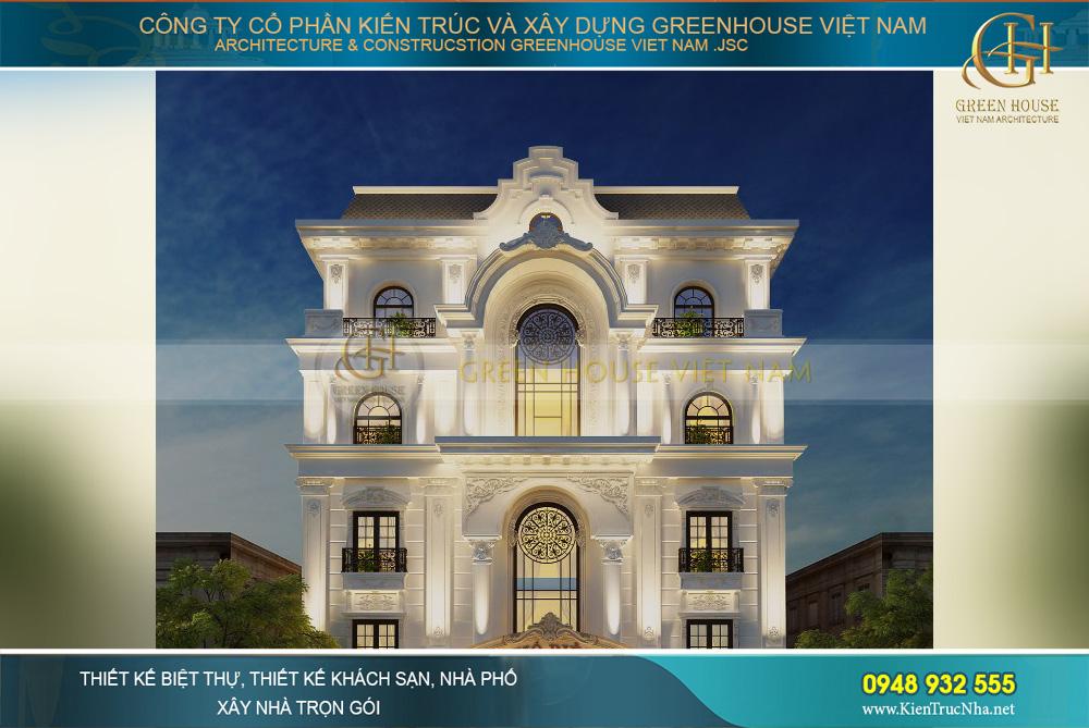 thiết kế khách sạn tân cổ điển 5 tầng phan thiết