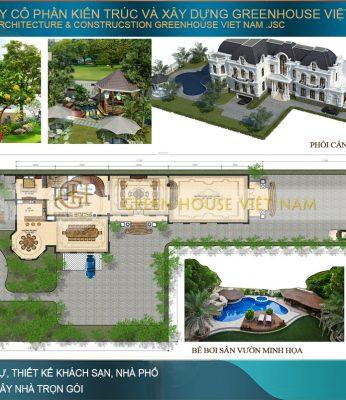 thiết kế biệt thự sân vườn tân cổ điển