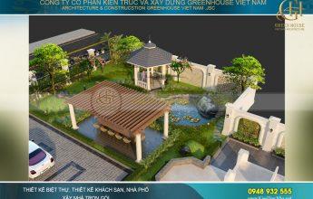 thiết kế sân vườn biệt thự theo phong thủy
