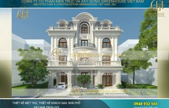 thiết kế dinh thự tân cổ điển bình dương