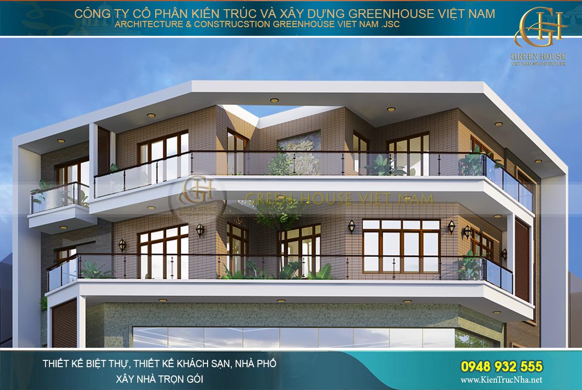 thiết kế biệt thự hiện đại 4 tầng hà nội