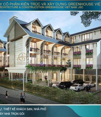 thiết kế khách sạn hiện đại 5 tầng đà lạt