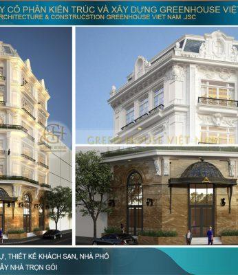 mẫu khách sạn tân cổ điển 6 tầng