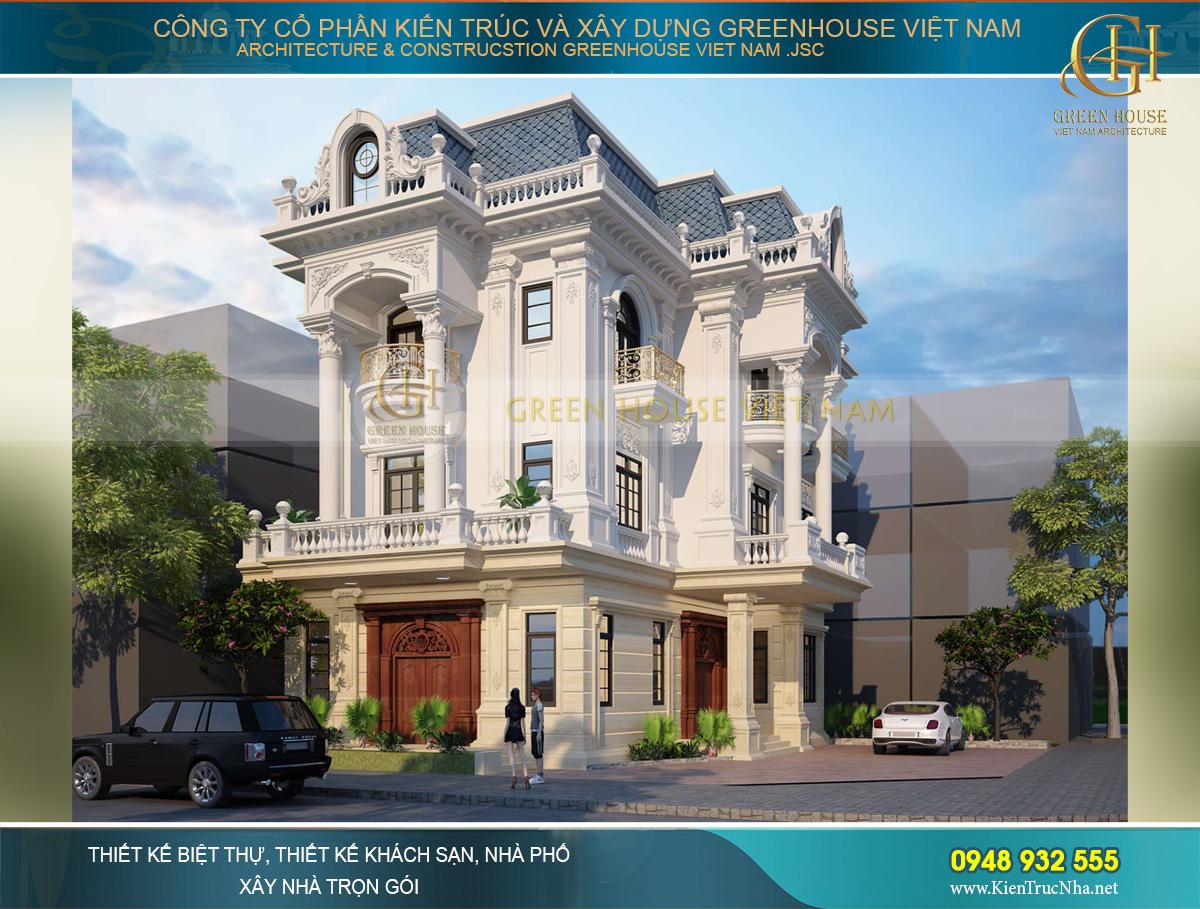 biệt thự tân cổ điển 3 tầng 2 mặt tiền