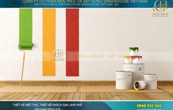 cách sơn tường nhà đẹp