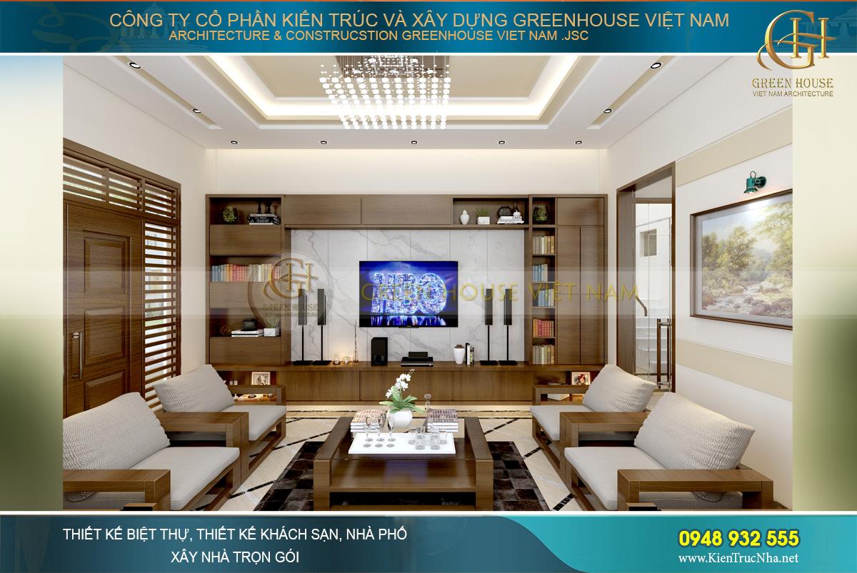 thiết kế tường sau TV