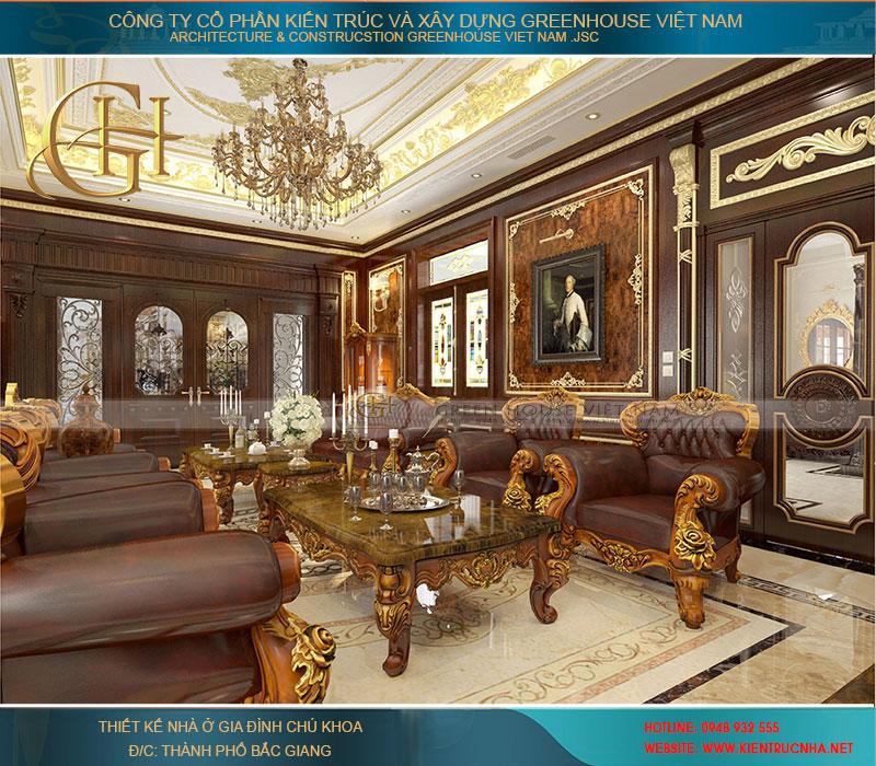 Thiết kế nội thất không gian phòng khách ấn tượng, thu hút