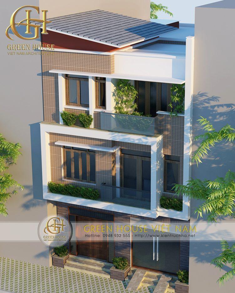 Thiết kế nhà phố hiện đại 3 tấng nhà chú Phong tại Băc Giang