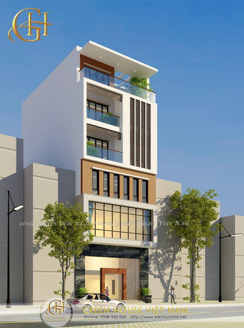 Phương án thiết kế nhà phố 6 tấng giáp pháp cho gia chủ kết hợp kinh doanh.
